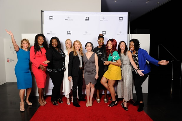 Sharon Waxman, Mayor Aja Brown, Farah Allen, Madelyn Deutch, Lea Thompson, Valeska Toro, Kathryn Finney, Bryanda Law, Mayor Libby Shaaf and Cathryn Posey at Power Women Breakfast San Francisco