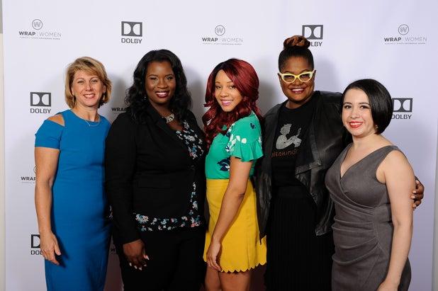 Sharon Waxman, Farrah Allen, Bryanda Law, Kathryn Finney and Valeska Toro at Power Women Breakfast San Francisco