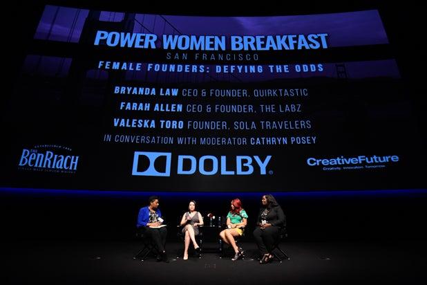Cathryn Posey, Valeska Toro, Bryanda Law, and Farah Allen at Power Women Breakfast San Francisco