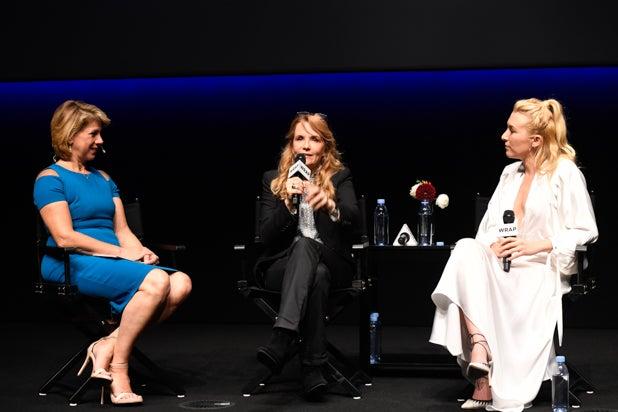 Sharon Waxman, Lea Thompson, and Madelyn Deutch at Power Women Breakfast San Francisco