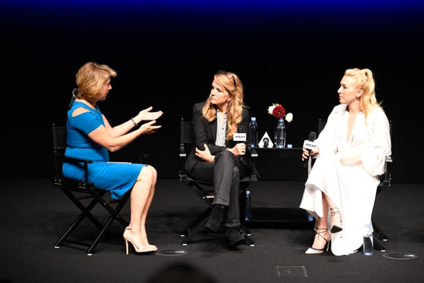 Sharon Waxman, Lea Thompson, and Madelyn Deutch at Power Women Breakfast San Francisco