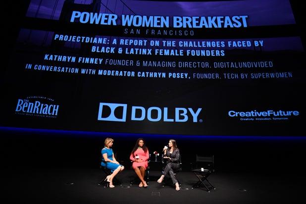 Sharon Waxman, Mayor Aja Brown, and Mayor Libby Schaaf at Power Women Breakfast San Francisco