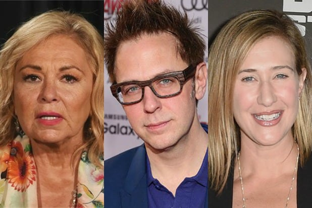 Roseanne Barr James Gunn Amy Powell