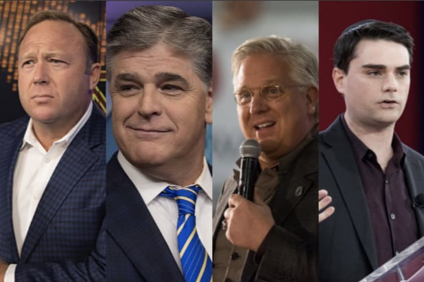 Alex Jones Sean Hannity Glenn Beck Ben Shapiro