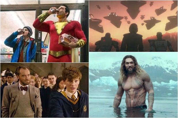 Shazam Clone Wars Fantastic Beasts Aquaman Comic-Con Videos