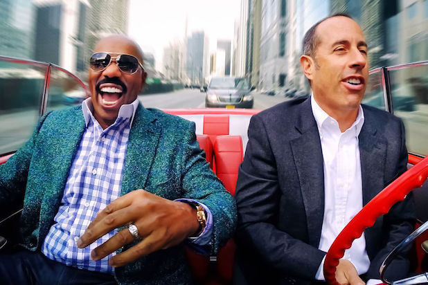 Steve Harvey Jerry Seinfeld Comedians in Cars Getting Coffee
