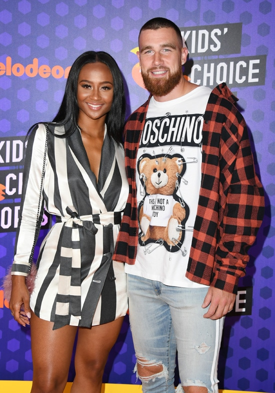 Travis Kelce with Kayla Nicole Nickelodeon Kids' Choice Sports 2018 - Arrivals