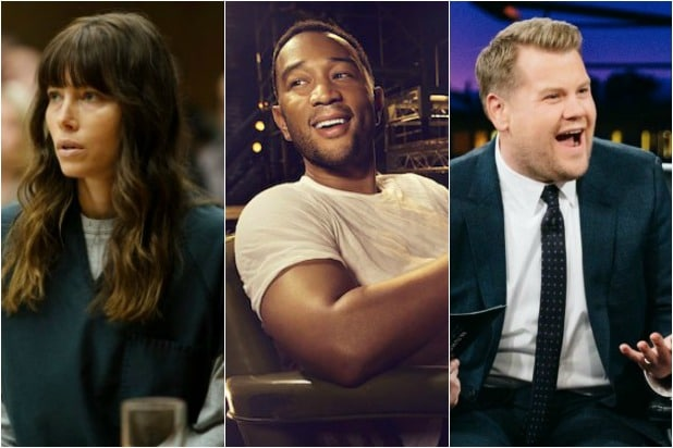 jessica biel john legend james corden - emmy nomations