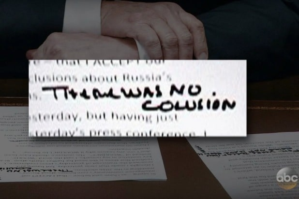 jimmy kimmel live donald trump putin would wouldn't no collusion