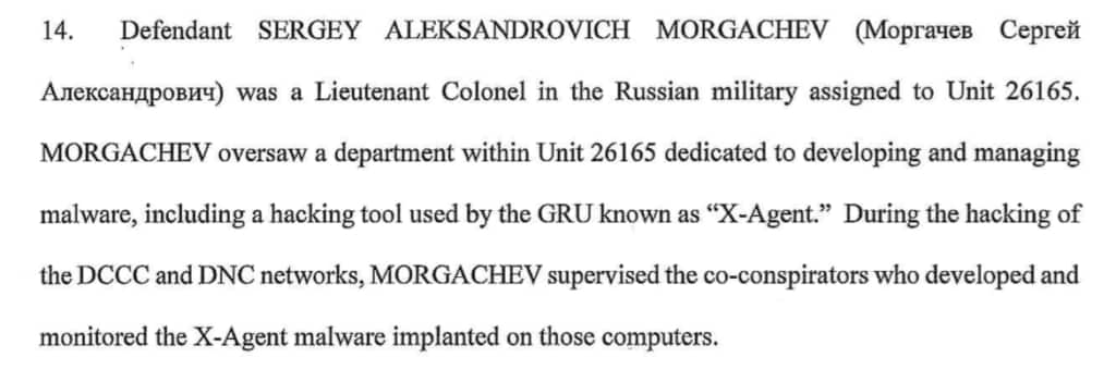 Mueller indictment lt col hacker