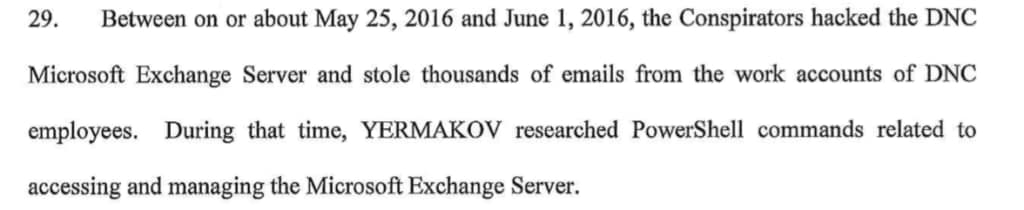 Mueller indictment microsoft