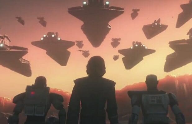STAR Wars Clone OBI-WAN KENOBI ANIMATA FIGURA loose