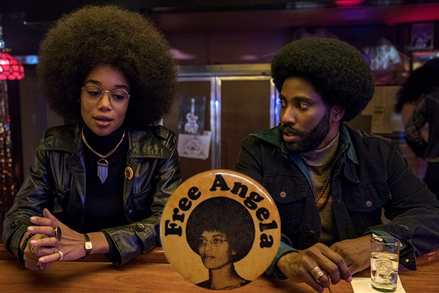 BlacKkKlansman Patrice Ron Angela Davis Laura Harrier John David Washington