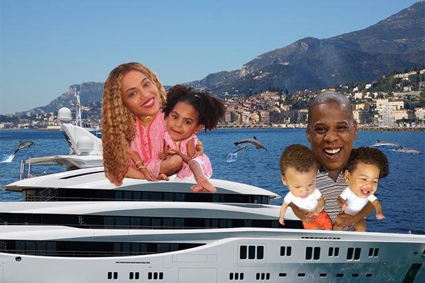Beyonce moguls on a boat 2018 jay z