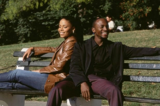 "Sanaa Lathan (left) and Taye Diggs in ""Brown Sugar."""