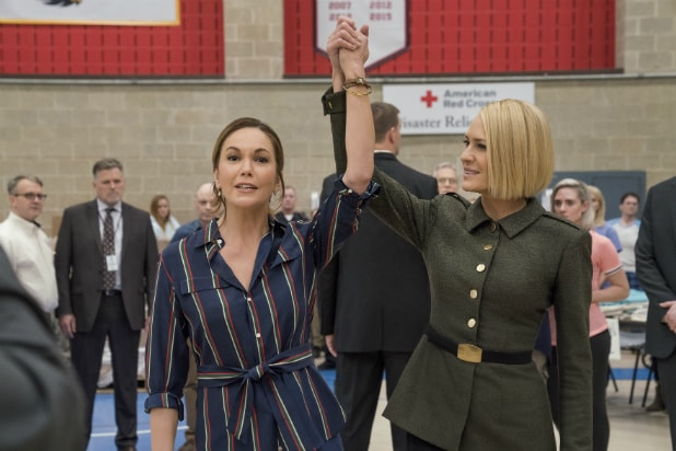 Diane Lane and Robin Wright in 'House of Cards'