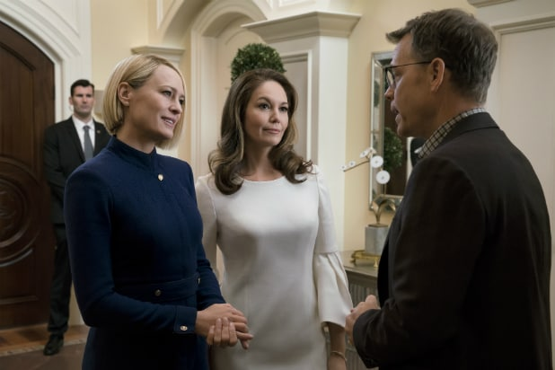 Greg Kinnear, Diane Lane and Robin Wright on 'House of Cards'