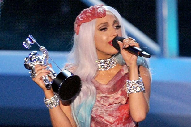 2010 MTV Video Music Awards - Lady Gaga Meat Dress