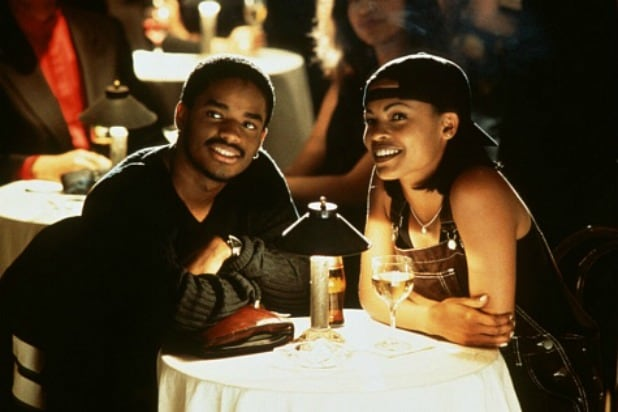 "Larenz Tate (left) and Nia Long star in ""Love Jones."""