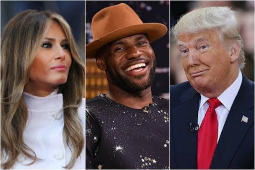 Melania Trump LeBron James Donald Trump better version