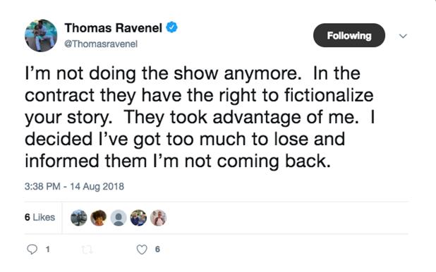 Ravenel tweet