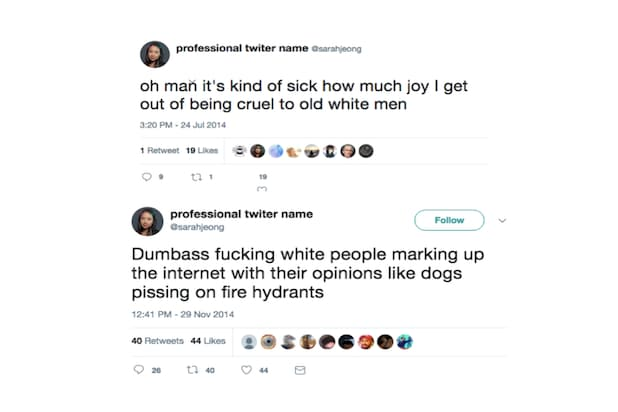 da4b591829e New York Times Takes Heat After Old Tweets Emerge From Sarah Jeong