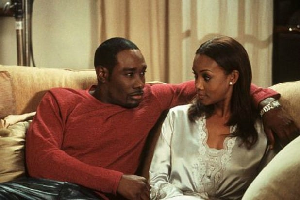 "Morris Chestnut (left) and Vivica A. Fox star in ""Two Can Play That Game."""
