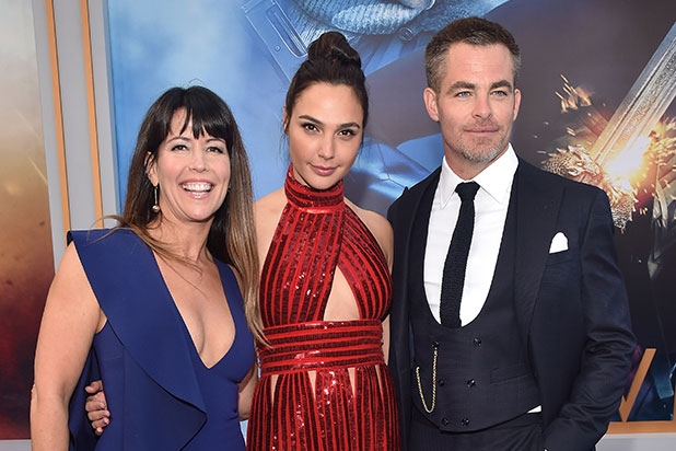 Patty Jenkins Gal Gadot Chris Pine