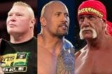 brock lesnar the rock hulk hogan