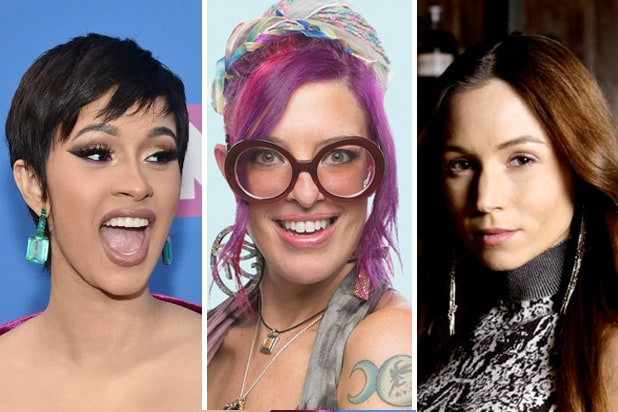 Cardi B, Angie 'Rockstar' Lantry and Waverly Earp