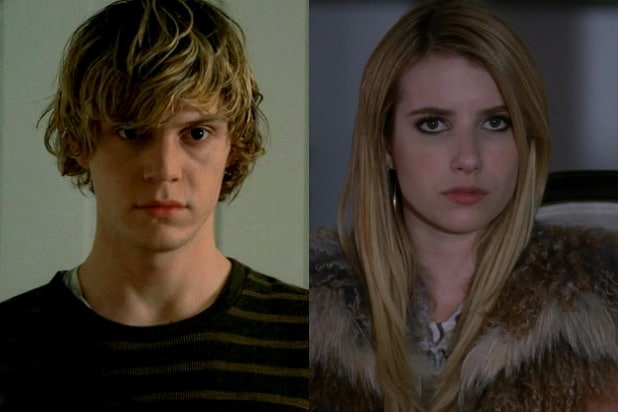 evan peters emma roberts american horror story