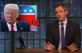 late night with seth meyers donald trump need ID to buy groceries at a strip club