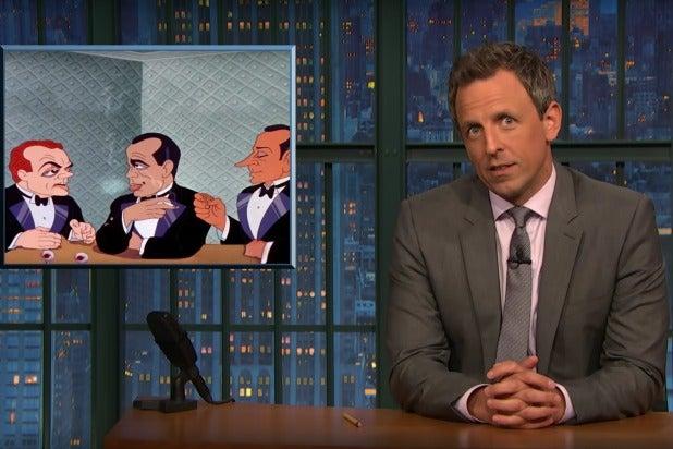 late night with seth meyers trump's people look like tex avery cartoon villains