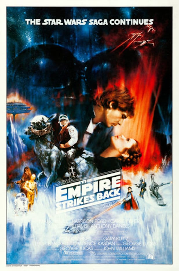 Star Wars Empire Strikes Back Auction Poster