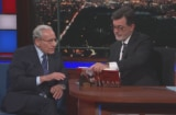 Bob Woodward and Colbert