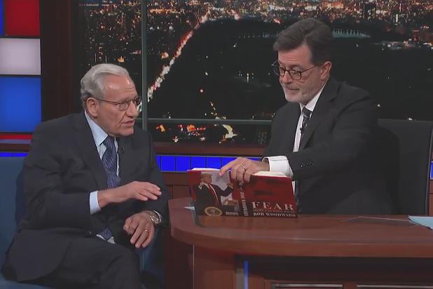 Bob Woodward and Colbert