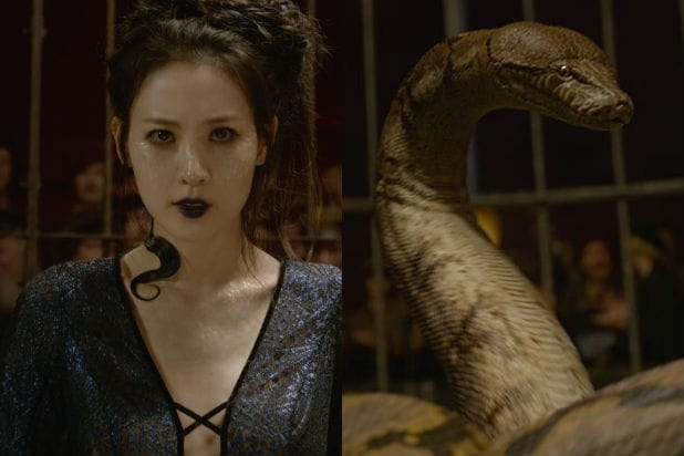 "Claudia Kim as Nagini in Fantastic Beasts: ""The Crimes of Grindelwald"""