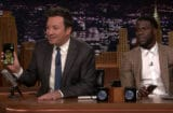 Jimmy Fallon FaceTimes Dwayne Johnson Kevin Hart