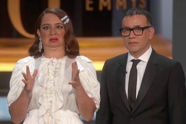 Maya Rudolph Fred Armisen 70th Emmys 2018
