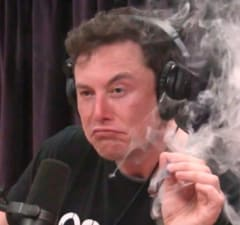 Elon Musk Smoking Joe Rogan Show