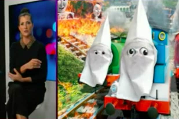 nra tv ripped for turning thomas and friends into kkk members