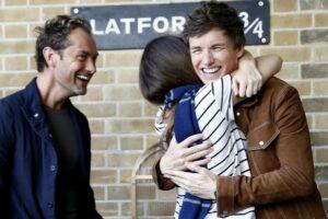 Jude Law Eddie Redmayne Fantastic Beasts celebration