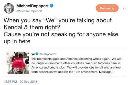 Michael Rapaport Kanye