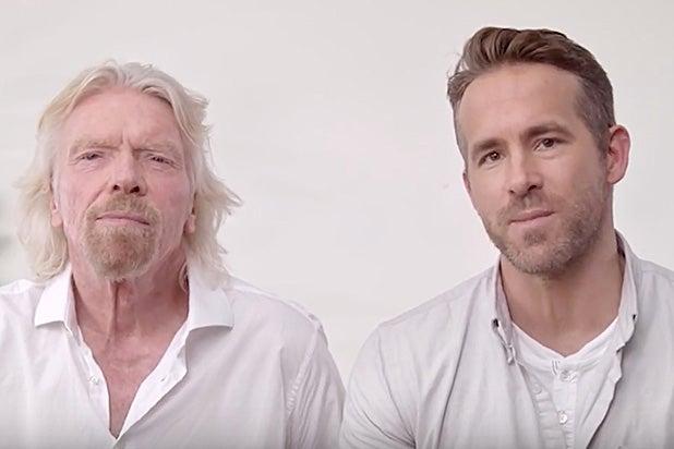 Ryan Reynolds Wants to Take Over Richard Branson's Virgin