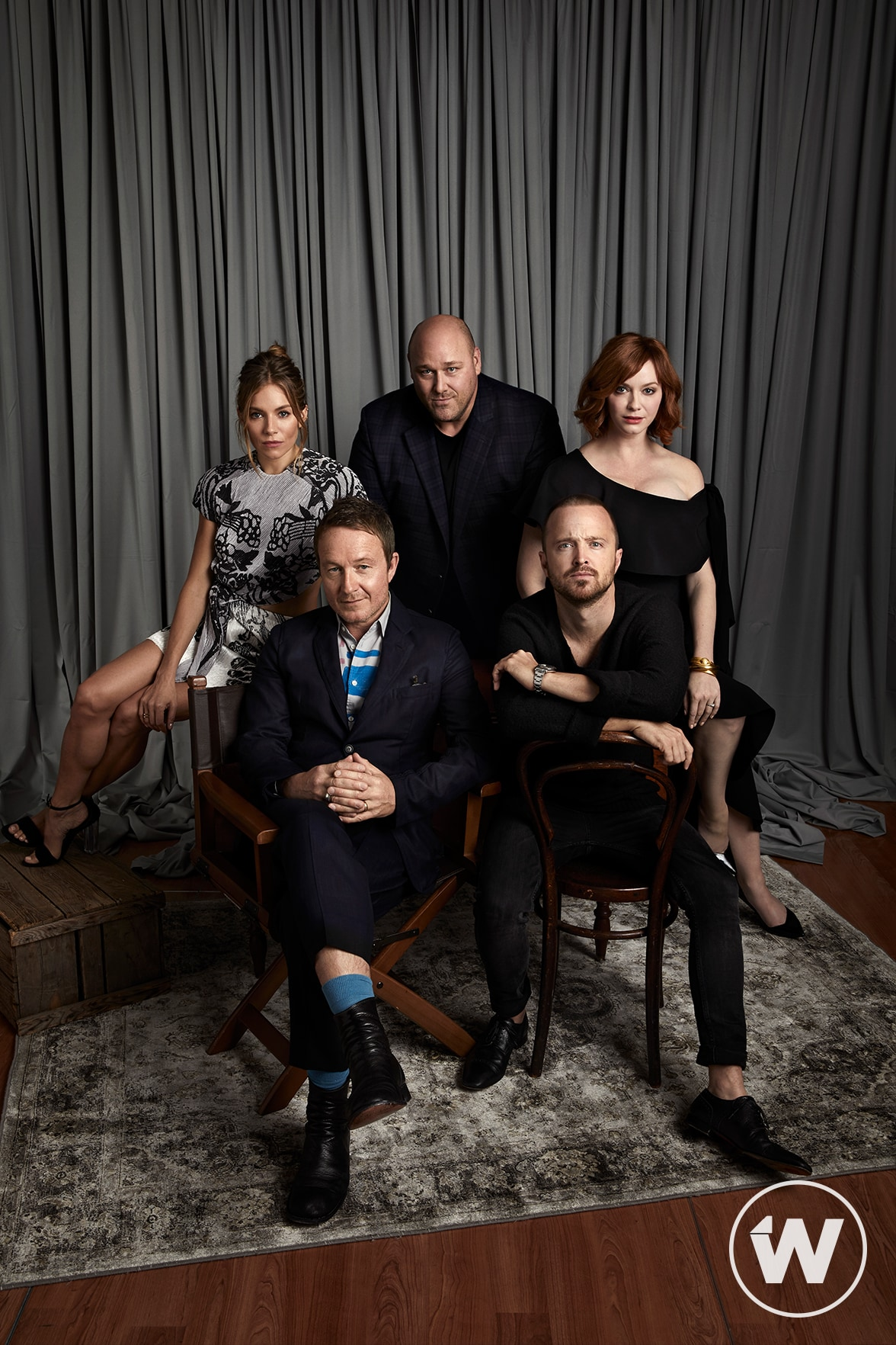 Sienna Miller, Jake Scott, Will Sasso, Aaron Paul, and Christina Hendricks, American Woman