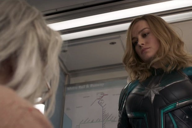 captain marvel trailer carol punches old lady