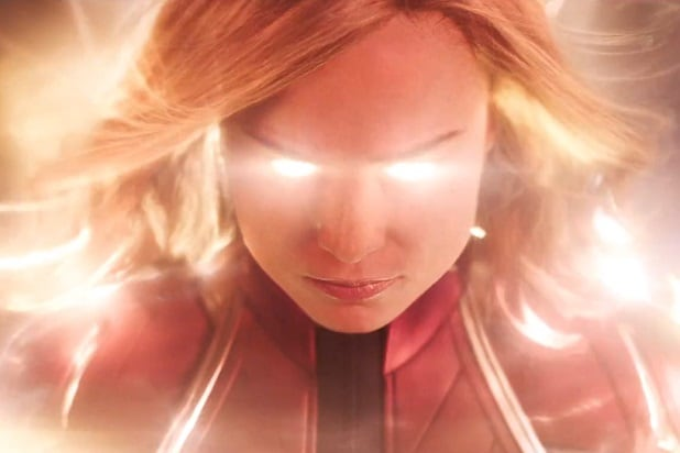 captain marvel trailer glowing carol brie larson