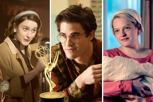emmy predictions marvelous mrs. maisel assassination of gianni versace handmaid's tale
