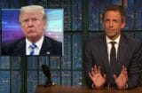 late night with seth meyers callous incompetend moron donald trump will not handle hurricane florence well