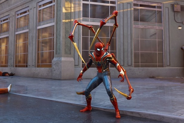 marvel's spider-man ps4 iron spider suit avengers infinity war